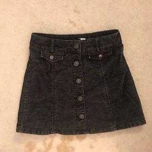 BDG Black Coudoray Button Up Skirt- Sz 2
